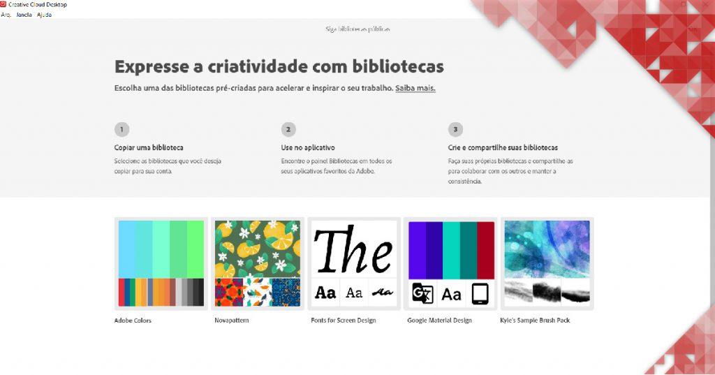 Nova atualização da Creative Cloud para desktop