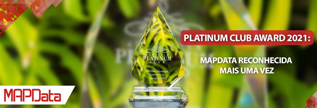 MAPData é reconhecida com prêmio Autodesk Platinum Club Award 2021
