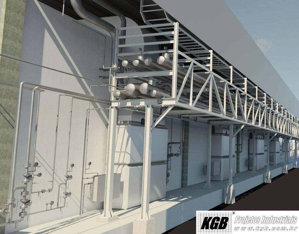 Projeto KGB feito com AutoCAD Plant 3D