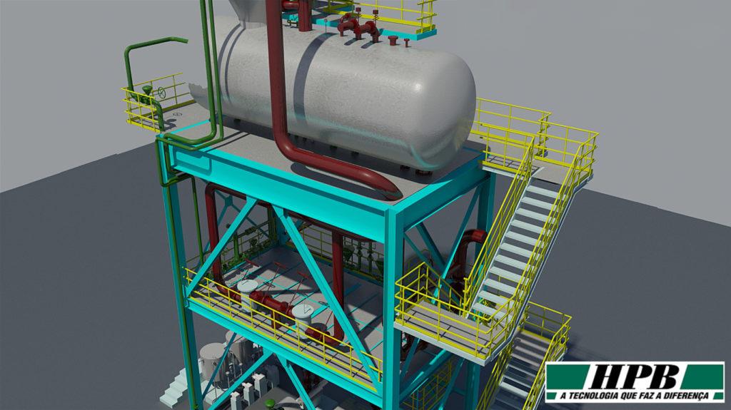 Projeto realizado pela HPB Engenharia e Equipamentos com AutoCAD Plant 3D